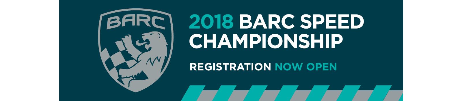 2018 Speed Championship - Registration Now Open